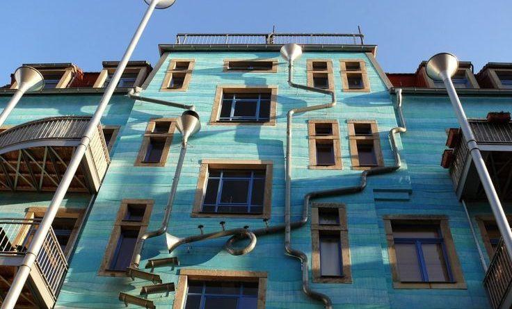 Dresden Kunsthofpassage Müzik Çalan Ev!